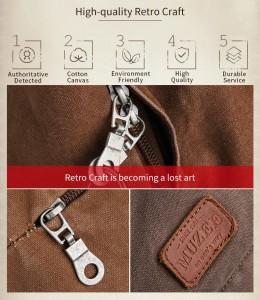Muzee - фурнитура рюкзака ME0710CD под ретро стиль