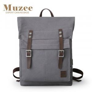 Холщовый рюкзак Muzee ME1655 серый главное фото