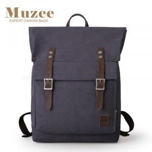 Холщовый рюкзак Muzee ME1655 синий лицевая сторона