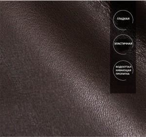 Портфель кожаный J.M.D. 7396Q коричневый, качество кожи крупным планом