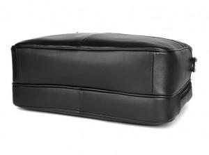 Кожаная сумка-портфель J.M.D. 7319A черная фото дна сумки