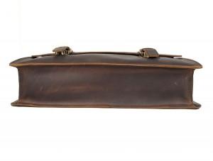 Винтажный мужской портфель J.M.D. 7223 коричневый, дно портфеля