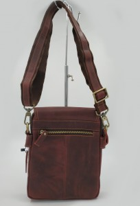 Мужская сумка планшет Crazy Horse J.M.D. 1006 бордо фото сзади