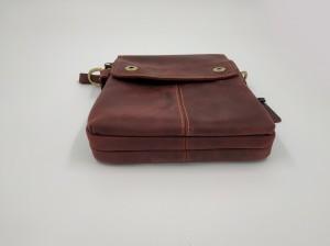 Мужская сумка планшет Crazy Horse J.M.D. 1006 бордо фото дна сумки