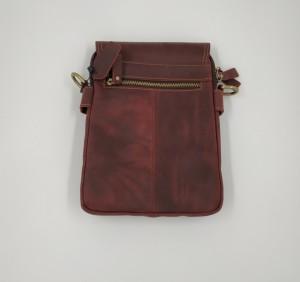 Мужская сумка планшет Crazy Horse J.M.D. 1006 бордо в раскрытом виде
