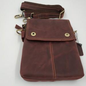 Мужская сумка планшет Crazy Horse J.M.D. 1006 бордо с плечевым ремнем