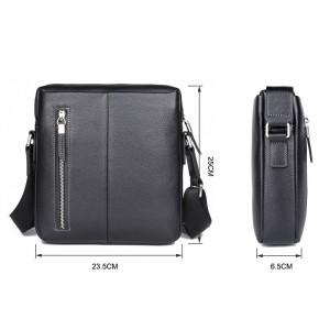 Сумка планшет из натуральной кожи J.M.D. 1047 черная схема с размерами