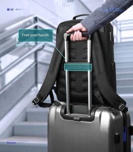 рюкзак для ноутбука 15.6 BOPAI61-26211 легко крепится на багаж благодаря специальной ленте на спинке рюкзака