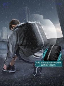 Рюкзак дорожный многофункциональный BOPAI 61-14311 черный в комплект входит чехол для рюкзака