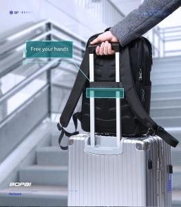 Рюкзак дорожный многофункциональный BOPAI 61-14311 черный легко крепится на ручку чемодана