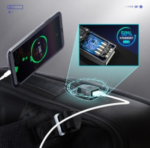 Рюкзак дорожный многофункциональный BOPAI 61-14311 USB разъем нового поколения