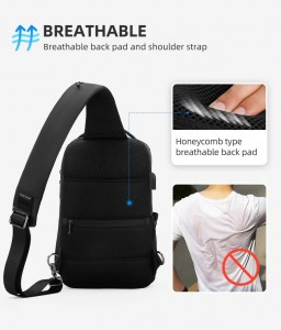 Рюкзак однолямочный Mark Ryden MR7069 дышащая спинка рюкзака