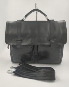 Кожаный портфель J.M.D. черный 7100С