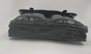Кожаный портфель J.M.D. черный 7100С фото дна