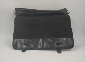 Кожаный портфель J.M.D. черный 7100С фото клапана
