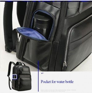 Дорожный кожаный рюкзак BOPAI 851-019811 карман для бутылки с водой