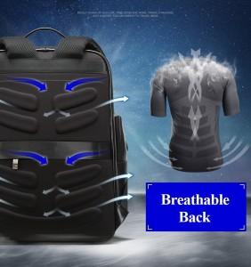 Дорожный кожаный рюкзак BOPAI 851-019811 дышащая спинка рюкзака
