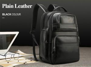 Дорожный кожаный рюкзак BOPAI 851-019811 фото в интерьере
