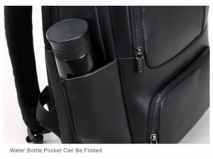Деловой кожаный рюкзак BOPAI 851-024011 фото кармана для бутылки с водой