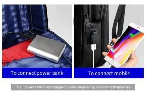 Деловой  рюкзак BOPAI 851-024011 с USB разъемом