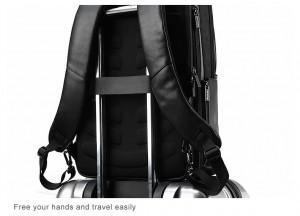 Деловой  рюкзак BOPAI 851-024011 легко крепится на ручку чемодана
