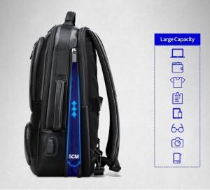 Деловой  рюкзак BOPAI 851-024011 увеличивается по ширине на 5 см