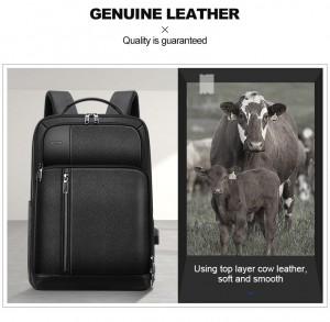 Деловой рюкзак для ноутбука 15.6 BOPAI 851-036611 из натуральной кожи