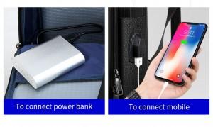 Рюкзак для ноутбука 15.6 BOPAI 851-036611 с USB разъемом
