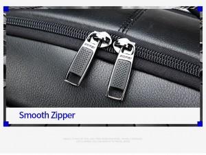 Кожаный рюкзак для ноутбука 15.6 BOPAI 851-036611 надежные молнии, ровная строчка