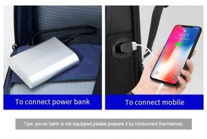 рюкзак BOPAI 61-02111 USB разъем и кабель в комплекте