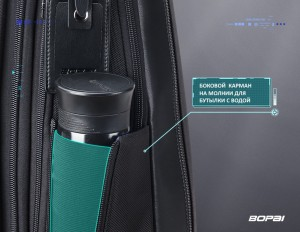 Тонкий рюкзак для ноутбука 15.6 BOPAI 61-18511 боковой карман для бутылки