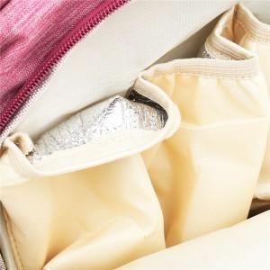 Рюкзак для мам LIVING TRAVELING SHARE CX9394 розовый плотные карманы для бутылочек из фальги