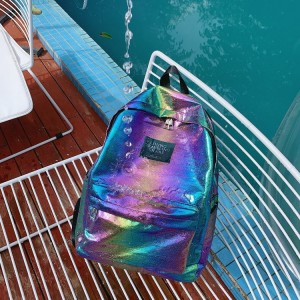Школьный Рюкзак LIVING TRAVELING SHARE 657 фиолетовый из водонепроницаемой ткани