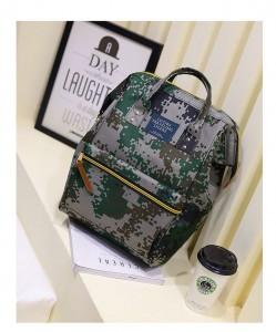 Рюкзак LIVING TRAVELING SHARE 008 зеленый камуфляж