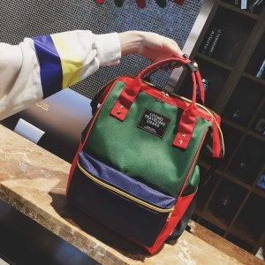 Рюкзак LIVING TRAVELING SHARE 008 сине-красно-зеленый