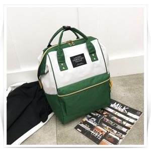 Рюкзак LIVING TRAVELING SHARE 008 бело-зеленый вид сбоку