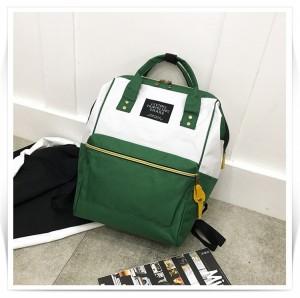 Рюкзак LIVING TRAVELING SHARE 008 бело-зеленый вид спереди