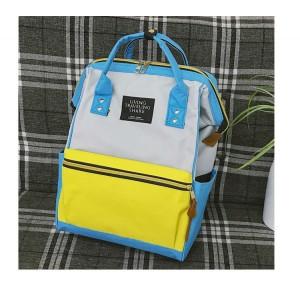 Рюкзак LIVING TRAVELING SHARE 008 бело-желто-голубой