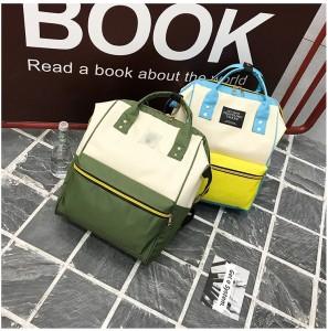 Рюкзак LIVING TRAVELING SHARE 008 бело-желто-голубой и бело-зеленый в сравнении
