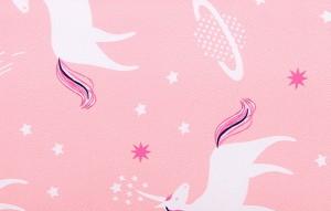 Рюкзак LIVING TRAVELING SHARE R053 розовые единорожки ткань крупным планом