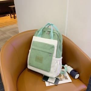 Рюкзак школьный Guliniao 163 зеленый с белым фото сбоку