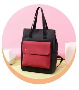 Школьный рюкзак Fashion 1190 красный с черным карманом