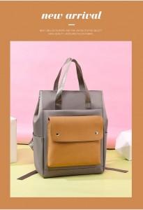 Сумка-рюкзак школьная Fashion 1190 фото серая с желтым мода 2020