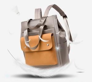 Сумка-рюкзак школьная Fashion 1190 фото серая с желтым очень легкая