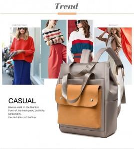 Сумка-рюкзак школьная Fashion 1190 серо-желтая новинка 2020