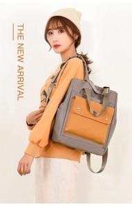 Сумка-рюкзак школьная Fashion 1190 серо-желтая фото на девочке