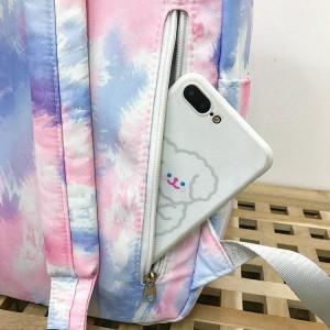 Рюкзак школьный Ming Hao MH696 Градиент потайной карман крупным планом