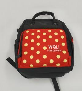 Сумка-рюкзак для мамы Disney m259 черно-красная фото2 сверху
