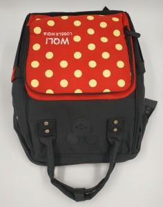 Сумка-рюкзак для мамы Disney m259 черно-красная фото сверху