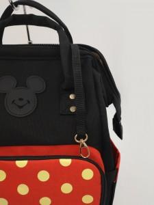 Сумка-рюкзак для мамы Disney m259 черно-красная брелок для ключей